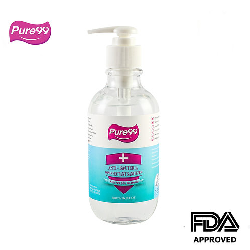 Pure99 Anti-Bacteria Disinfectant Rinse-Free Hand Sanitizer, 70% Alcohol,300 ML