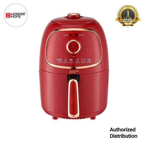 WH-AF-RR Wonder Home Healthy Retro Air Fryer 2 Liter 1000W