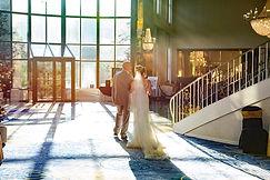 Newlyweds in the Skylands lobby