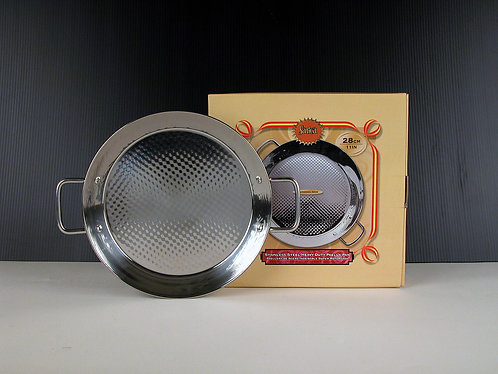 Stainless Steel Induction Bottom Paella Pan (28cm)
