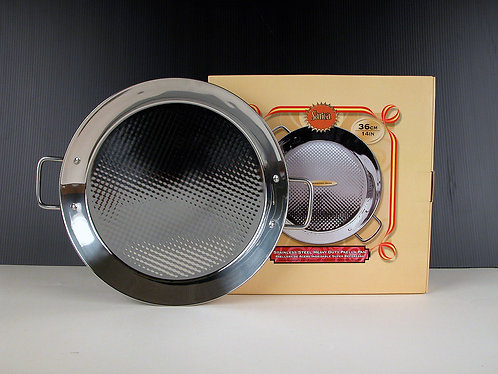 Stainless Steel Induction Bottom Paella Pan (36cm)