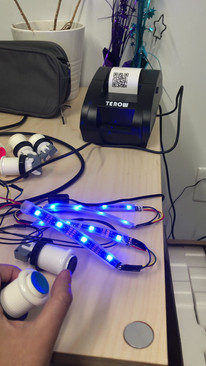 Mood Station Wiring Testing, Wiring by Gary Zhang
