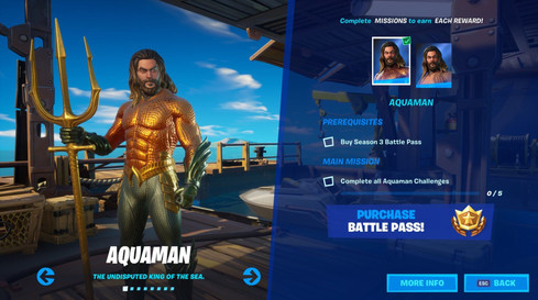 Skin Aquaman Fortnite