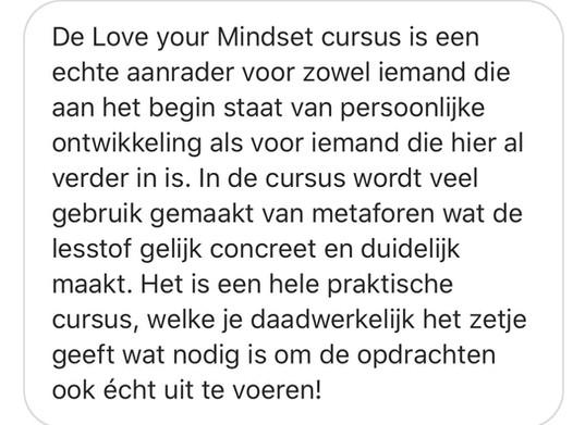 Love your Mindset cursus