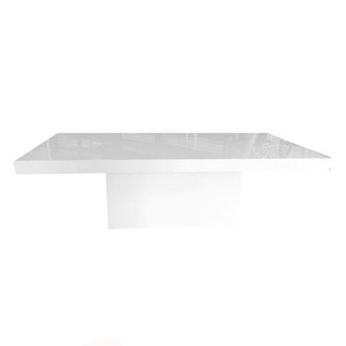 8' White Lacquer Table