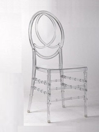Clear Resin Fish Back Chair
