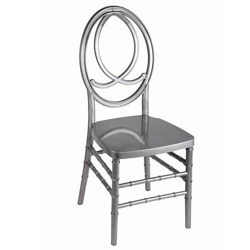 Silver Resin Fish Back Chair