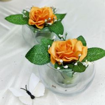 Orange Artificial Flower