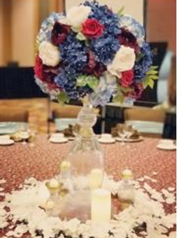Artificial Flower Glass Stand