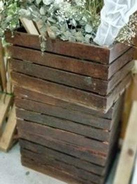 Wood Crate (M) Dark brown (S)