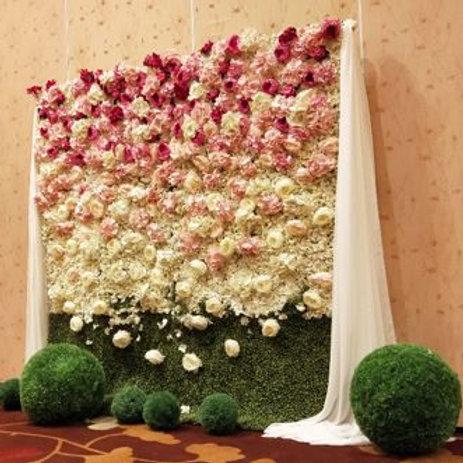 Artificial Flower Backdrop