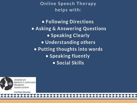 Speech Therapy Complements Learning!