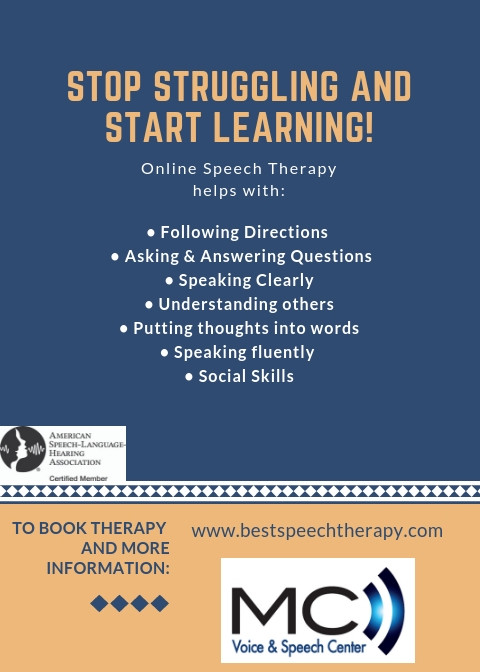 Stop struggling and start learning; speech therapy facilitates learning