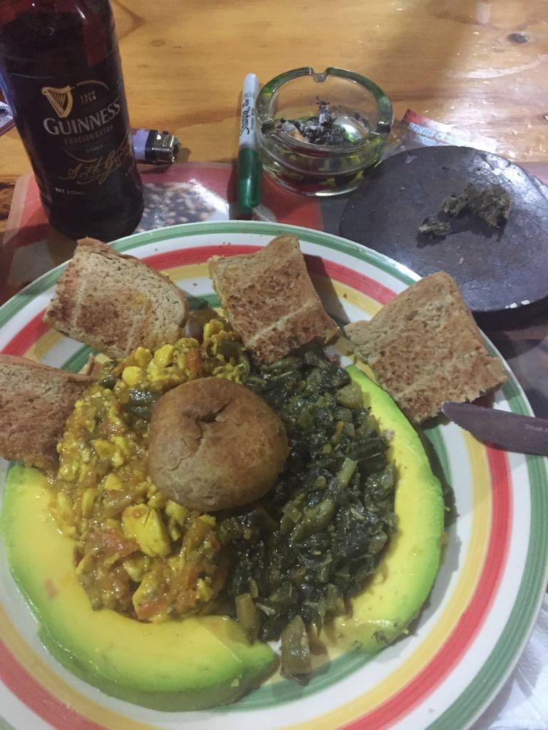 Ital Food at ini Rastarant Negril Jamaica