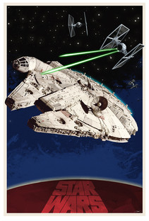 Star Wars Illustration Poster