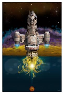 Firefly Illustration Poster