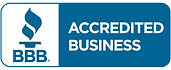 Accredited Business Seal in PMS 7469 hor