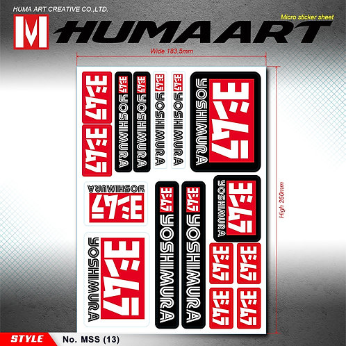 HUMAART Motorcycle Sponsors Exhaust Pipes Decal Sticker for YOSHIMURA