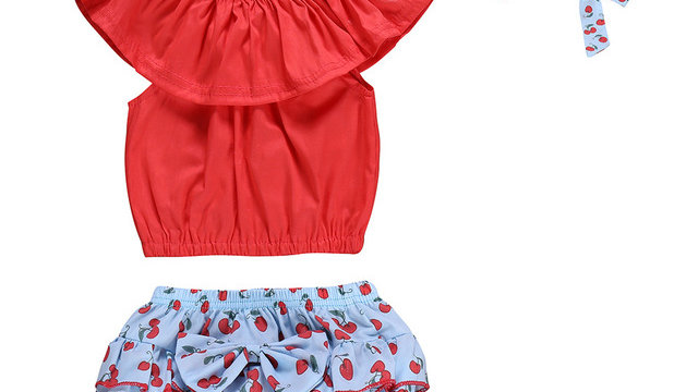 Fashion toddler girl summer clothes set