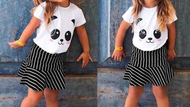 New Cute Panda baby Kids Girl Letter