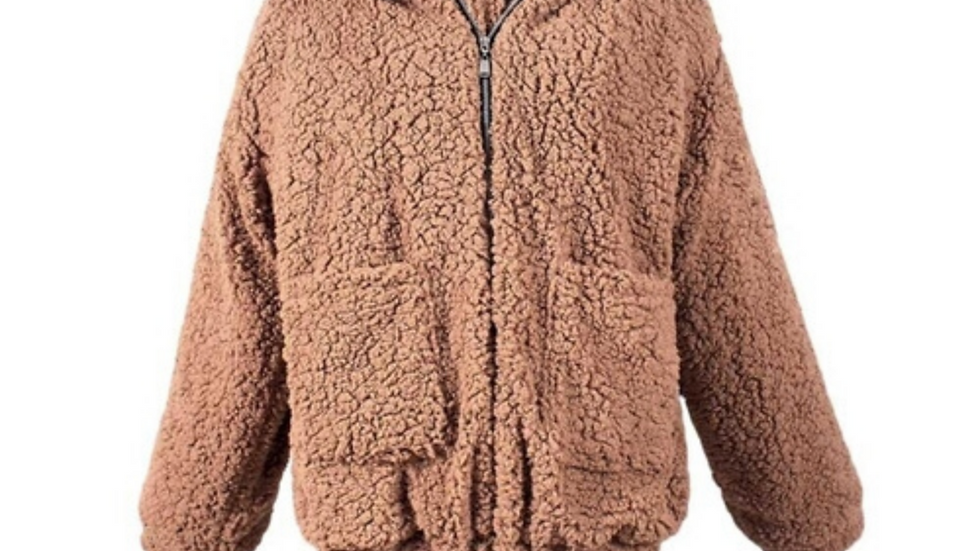 Winter Lambswool Teddy Coat