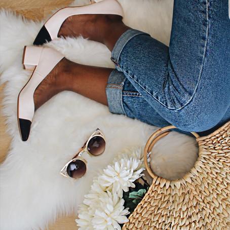 #Paixãodeprimavera : Sapato Com Dois  Tons