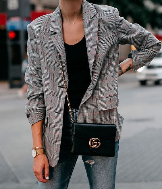 Check blazer style