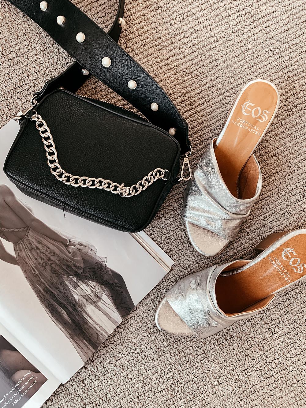 Silver EOS Footwear Mules