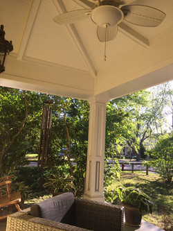 Custom Victorian-Style Vaulted Porch Ceiling