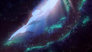 underwater cave concept