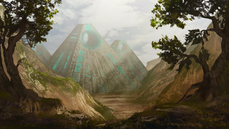 Alien pyramids concept