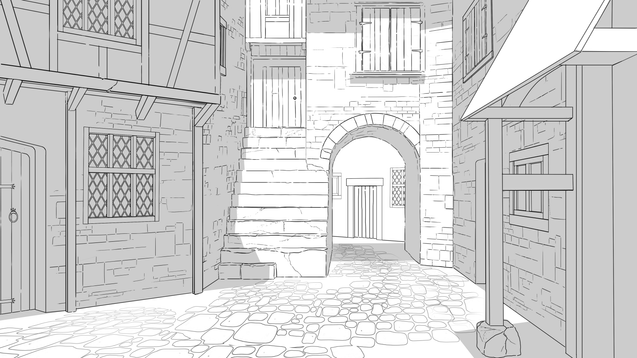 medieval street concept lineart.png