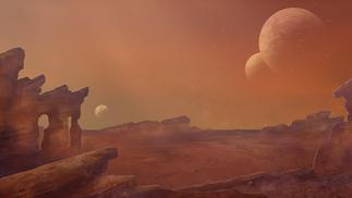 fantasy sand planet concept