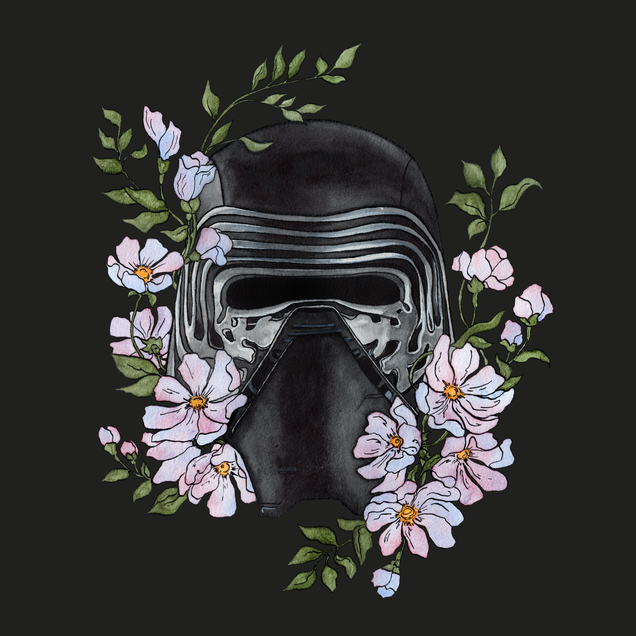Kylo's mask colour correct clean up dark