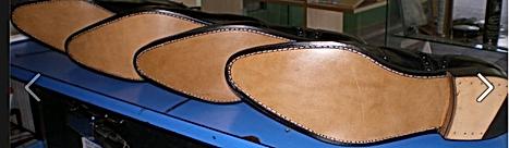 ressemelage cuir cousu traditionnel haute qualité patins topy glacage teinture talons caoutchouc louboutin