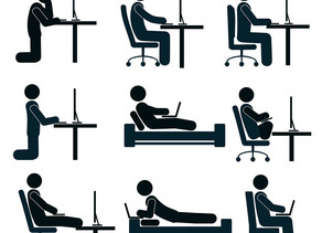 How to sit properly at your desk.