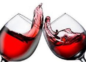Buckets of wine.