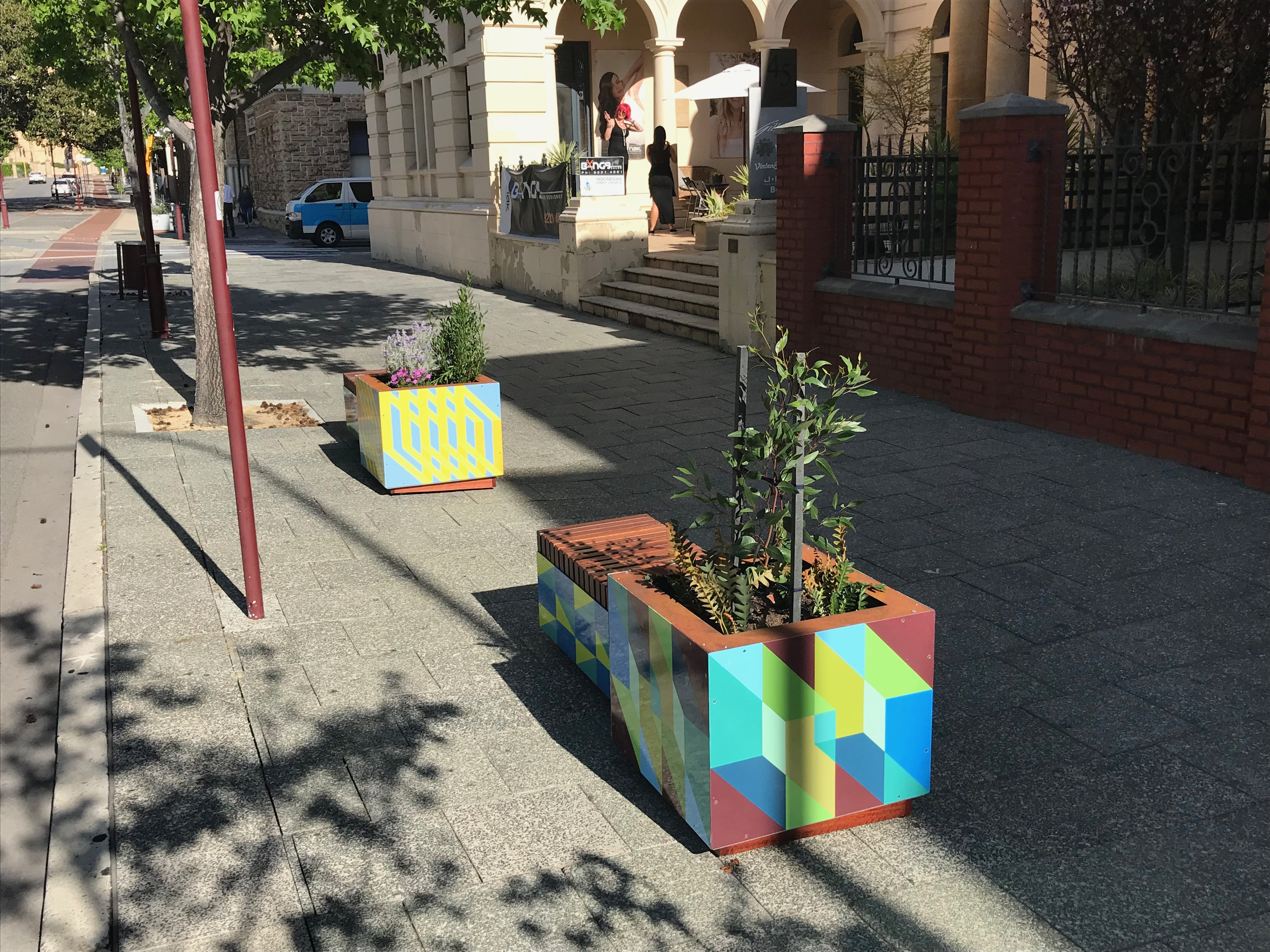 Historic Heart of Perth Planters
