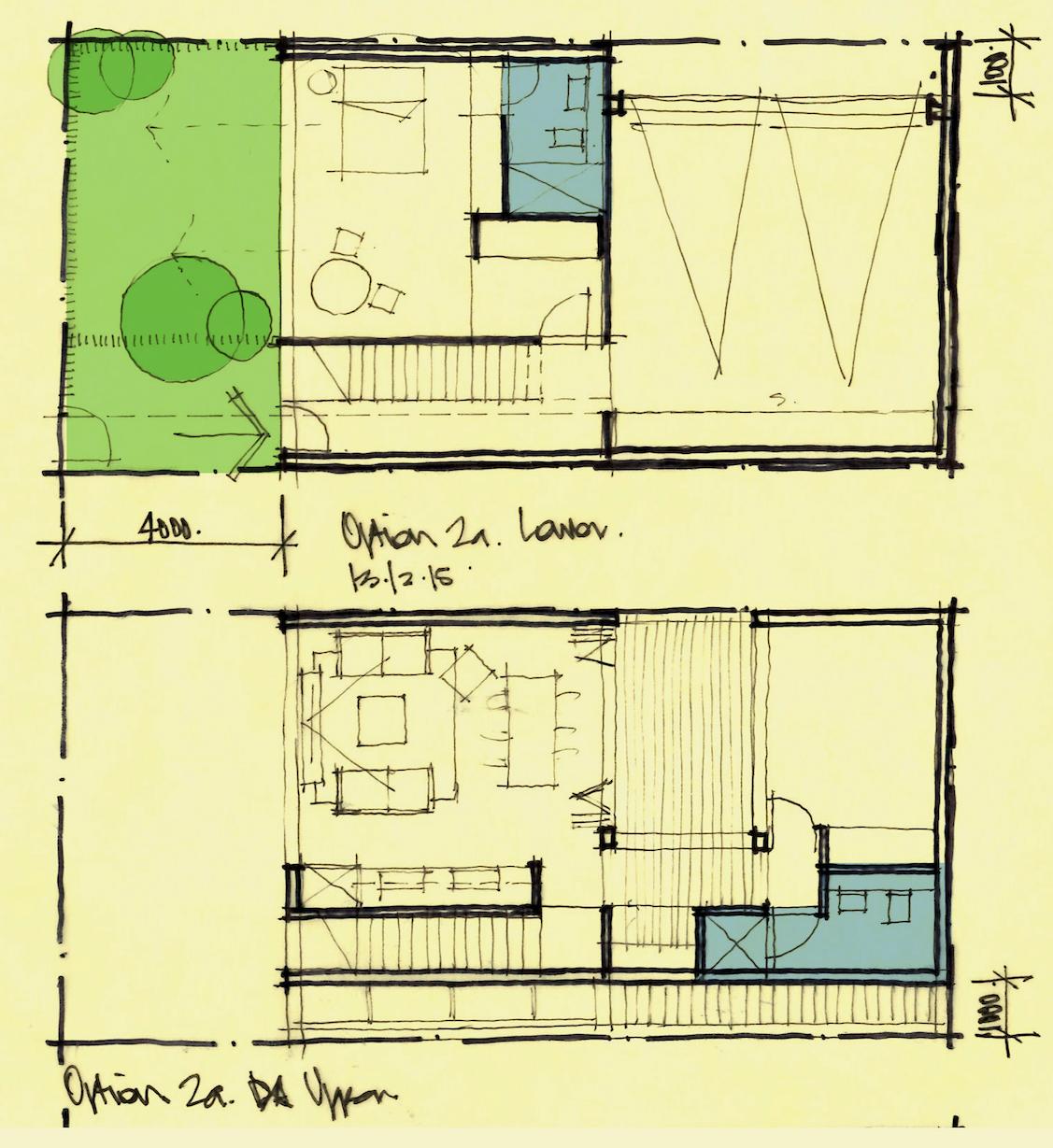 Micro House Design Sketch