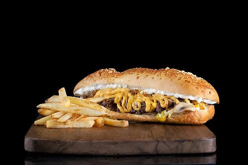 Sánduche Philly Cheese Steak