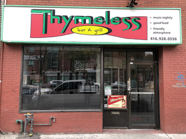 Reggae bar Thymeless was located in this spot at 355 College Street for 15 years. The bar closed in March and the building is currently vacant. Photo credit: Erica Chi.