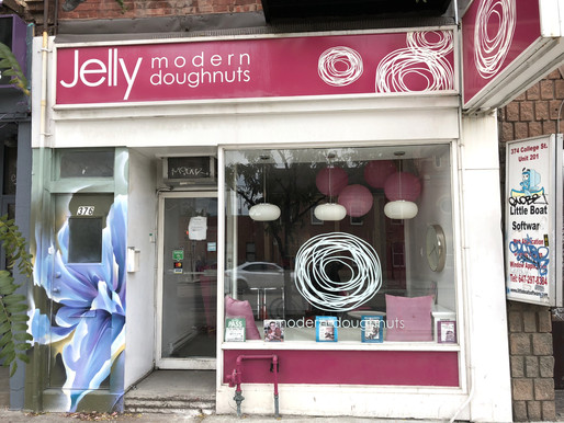 Most recently home to Jelly Modern Doughnuts, 376 College Street is now vacant. Photo credit: Erica Chi.