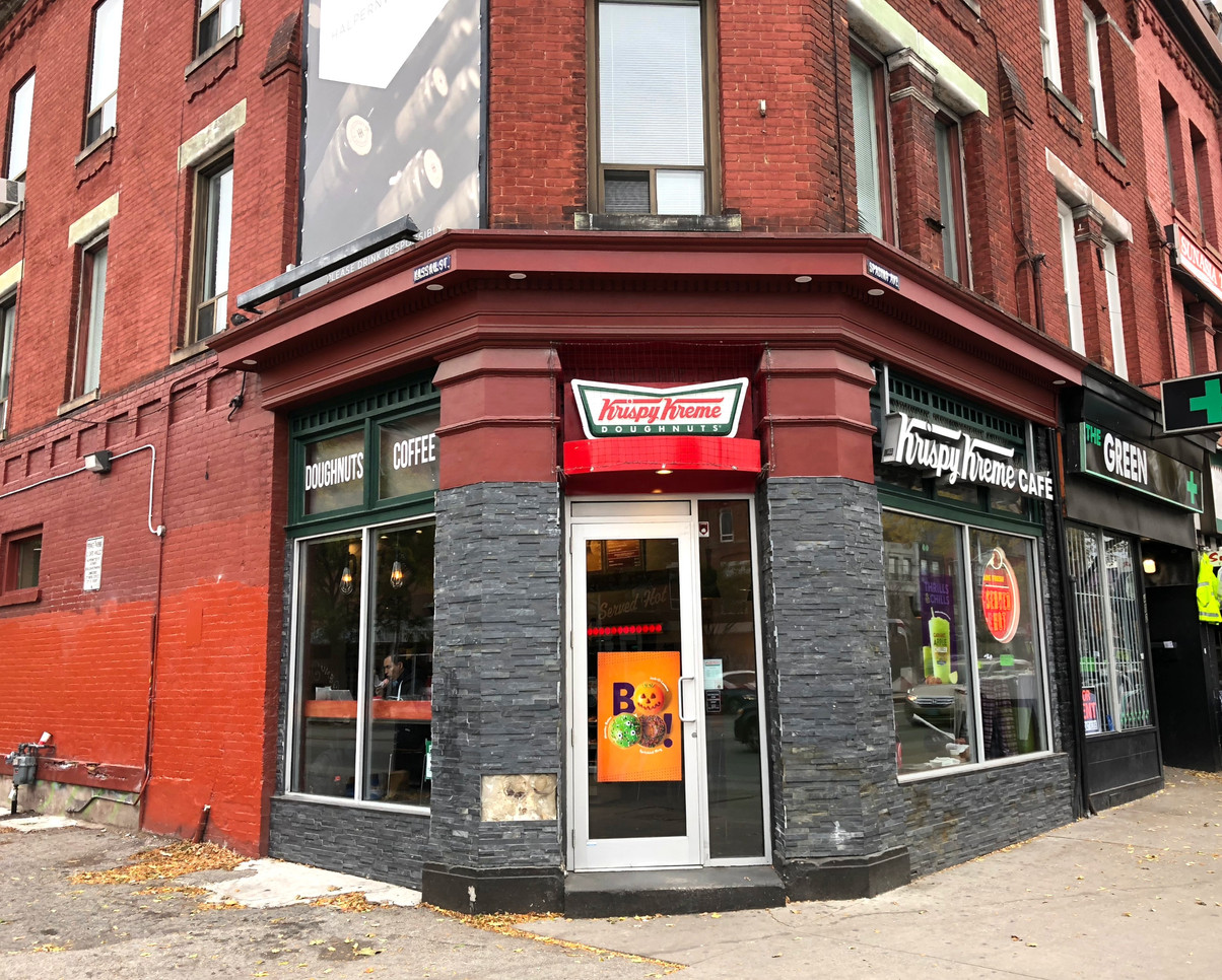 Today, 400 Spadina Avenue is home to Krispy Kreme. Photo credit: Erica Chi.