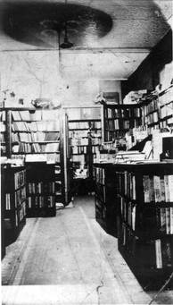 Interior of Hyman's Book and Art Shop, 412 Spadina Avenue, ca. 1930. OJA, item 1174.