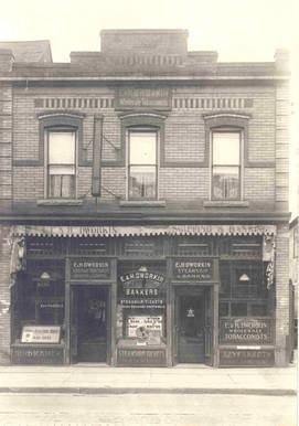 E.& H. Dworkin Steamships and Bankers, 525 Dundas Street West, ca. 1920. OJA, accession 2006-1-2.