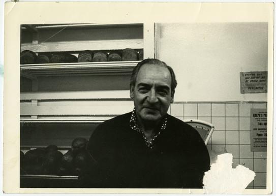 Art Perlmutar in Perlmutar Bakery, ca. 1972. OJA accession, 2019-1-5.