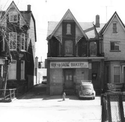 Tasty Bagel Bakery, 33Kensington Avenue, 1977. OJA, item 1297.