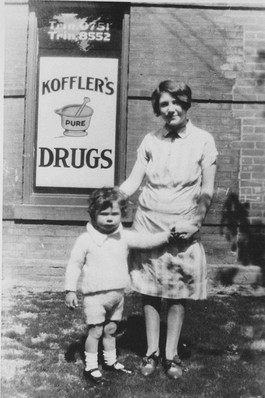 Murray Koffler with his Aunt Anne, 376 College Street, ca. 1927. OJA fonds 37, series 9, item 1.