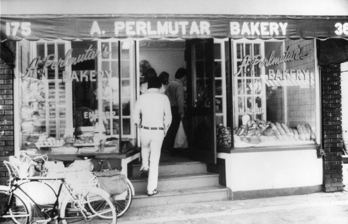 A. Perlmutar Bakery, 175 Baldwin Street, 1974. Photograph by Syd Shoub. OJA accession, 2012-10-11.
