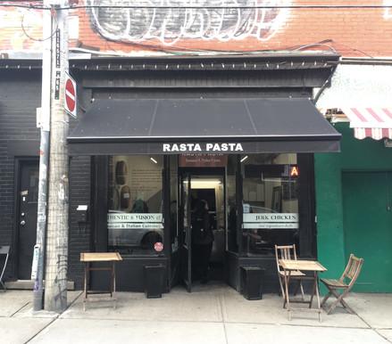 Today, 61 Kensington Avenue is home to Rasta Pasta. Photo credit: Evelyn Feldman.
